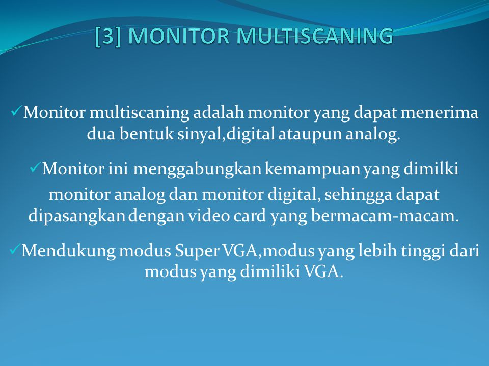 [3] MONITOR MULTISCANING